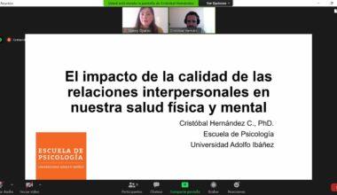 """Charla """"El Impacto de la calidad de las relaciones interpersonales en nuestra salud física y mental"""""""