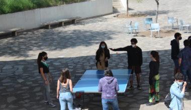 Recreación y Deporte en el patio del edificio A