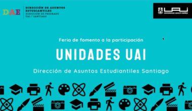 Feria online de Fomento a la Participación: Unidades de la UAI