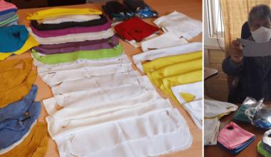 Más de 100 mascarillas se donaron a la Escuela La Parva de Achupallas