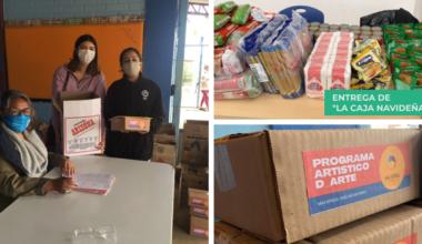 Visionarios y Más África apoyan a 25 familias con entrega navideña de alimentos y kits de arte