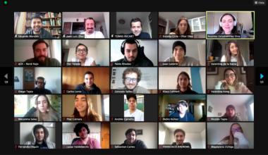 Tomás Recart de Enseña Chile conversa virtualmente con el Campus Viña